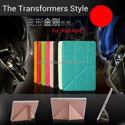 crazy house Transformers leather case for ipad air 2 mini smart stand case 11 folding