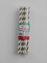 Party Paper Straws 40pcs Packed In PVC Box