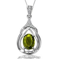 Hot selling pendants jewelry brazilian gemstone jewelry mexican 925 silver and gemstone jewelry with low price