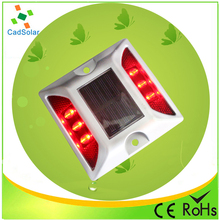 2015 new type super luminous double sides 6 led solar reflective road markers