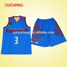 2015 custom design fashion basketball uniform LQF-074