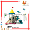 TX3067B commerical outdoor playground plastic jungle gym with slide