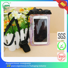 High quality waterproof cell phone neck hanging bag