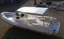 Chine Liya 20 personnes crusing yacht 27ft en fiber de verre puissance bateau de vitesse à vendre