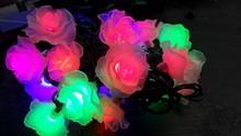 factory wholesale led flower battery flower lights, battery operated flowers with led lights