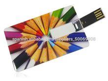 ambos lados logotipo impresión tarjeta usb flash drive como regalos de empresa