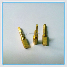 gold plating cnc turning parts for automatic production line products, automatic lathe parts