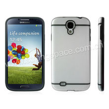 Black lining camera eye cutout PC and TPU 2 in1 case for Samsung galaxy s4