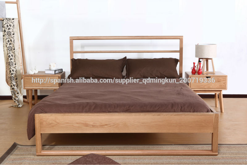 cama de doble madera maciza roble de 1 2 1 5 1 8m camas
