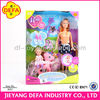 good quality best selling plastic girl doll, child ride little pony