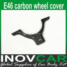 E46 carbon fiber interior trim for Bmw e46 Car Steering wheel cover