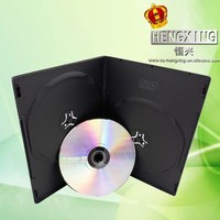 PP 7mm Single/double long Plastic Black elegant dvd case with Matte sleeve