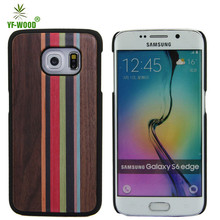 Mixed color bamboo wood hard back cover / Case bamboo for samsung galaxy s6 edge