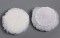 "3"" WHITE 100% WOOL Mini Buffing Pad for HEAVY CUTTING"