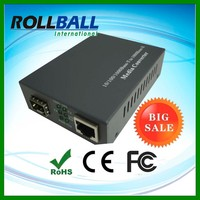 Telecom equipment Internal power supply cat5 to fiber converter