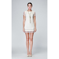 novo estilo de venda quente de seda crepe georgette vestido das mulheres