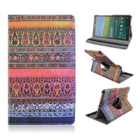 All Flowers Design Rotatable Flip Stand Leather Cases Cover For Samsung Galaxy Tab S 8.4 T700 T705 From China Factory