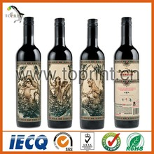 Red Wine Use Custom Wine Label Special Paper With Gold Stamping