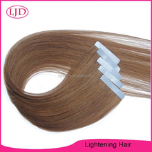 High Quality Silky Straight Tape Hair Extension Hot Sale Brazilian Hair Color #8