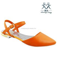 ladies fashion shoes latest women flat plastic sandals 2015 woman pointed shoes