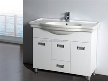 floor standing PVC bathroom cabinet with ceramic sink for syria & libya market