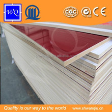 Red Solid Color High Gloss Acrylic Wall Panel Cheap Price for Kitchen Cabinet and Sliding Door Interior Decoration