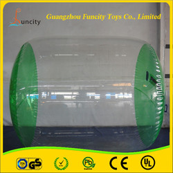 High quality 1.0mm thickness PVC/TPU inflatable water roller, fascinating durable floating water wheel