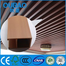 formaldehyde free wood plastic composite led lighting wpc ceiling decoration