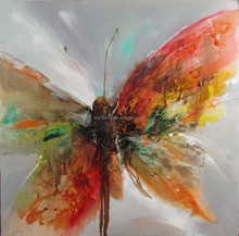 2015 New Abstract Butterfly canvas animal oil paintings