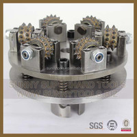 Concrete Diamond grinding and polishing tool machine Rotary Bush Hammer rollers Tool for marble or granit or stone