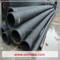High quality fiber braided rubber water suction hose rubber discharge hose