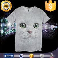 Zero risk of online shopping golf 70% polyester 30% cotton 3d printing of men's t-shirt