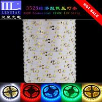 Hot sale 60PCS of high brightness SMD 3528 LED per meter economical 12VDC Non-waterproof type Flexible LED Strip