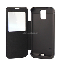 New Design 3800mAh Leather Flip Power Case for Samsung Galaxy S5