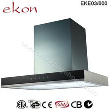 600mm T Tipo de montaje en pared de la cocina campana de chimenea extractora