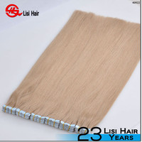 2015 New Design Top Quality Soft Super Tape Waterproof Private Label Remy 100% remy tape platinum seamless hair extensions