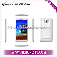 6 Inch Android 4.1 Dual SIM MTK6577 3G phone with GPS WIFI Bluetooth smart phone