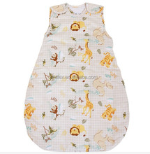 Hot Sales Double Layers Organic Cotton Baby Muslin Sleeping Bag