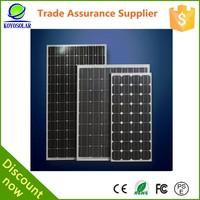 home used roof sun power solar panel 100w