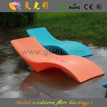 promotions PE material colorful outdoor furniture recliners and recliner chair