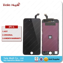 For Iphone 6 LCD display+Touch Screen Digitizer+Home Button+Front Camera+Frame full Assembly White and black,free shipping