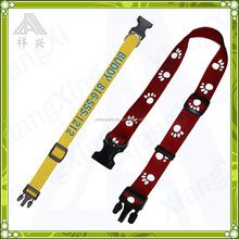 Dog paw printed high quality printed dog accessories/nylon dog accessories