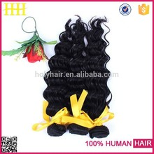 Hot selling!pure brazilian bouncy curl human hair weaving original hair extension