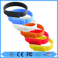 Promotional silicone usb bracelet flash drive with free logo printing