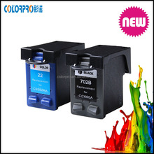 3920/3924 printers compatible ink cartridge for hp 702 22 ink cartridge