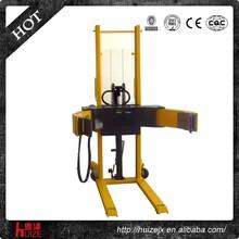 Hand Hydraulic Paper Roll Handling Equipment Manual Paper Reel Flip Stacker Truck Mobile Hydraulic Reel Lifter