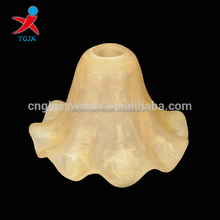 Handcraft Lamp Shades for sale/Bloom Shape Glass Lamp Cover for House Decoration
