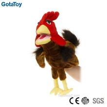 New design custom stuffed plush cock hand puppet