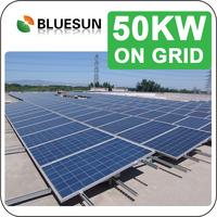 Bluesun 50kw ongrid solar power system 50kw,50kva grid tie solar system