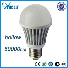aluminum hollow out design SMD chips 3w 5w 7w 9w E27 led bulb light